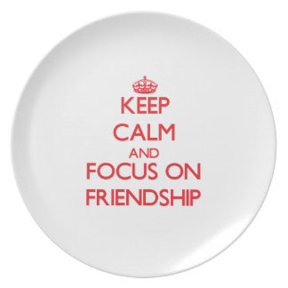 Keep Calm and focus on Friendship Party Plates