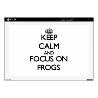 Keep calm and focus on Frogs Laptop Decal