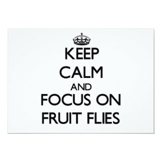 Keep Calm and focus on Fruit Flies Invite
