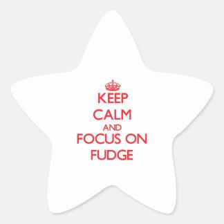Keep Calm and focus on Fudge Star Sticker
