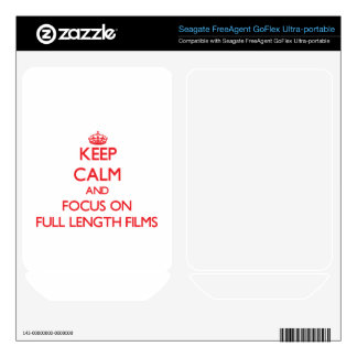 Keep Calm and focus on Full Length Films FreeAgent GoFlex Decals