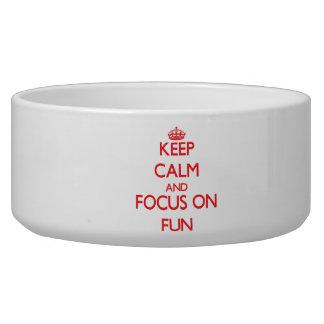 Keep Calm and focus on Fun Dog Bowl
