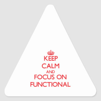 Keep Calm and focus on Functional Triangle Stickers