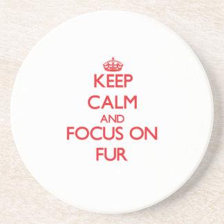 Keep Calm and focus on Fur Coasters