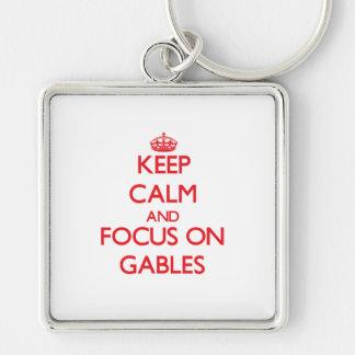 Keep Calm and focus on Gables Key Chain