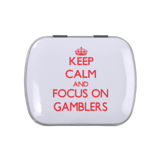 Keep Calm and focus on Gamblers Jelly Belly Candy Tin