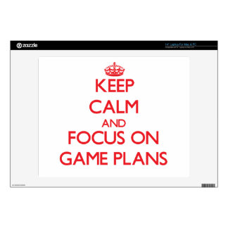 """Keep Calm and focus on Game Plans 14"""" Laptop Skin"""