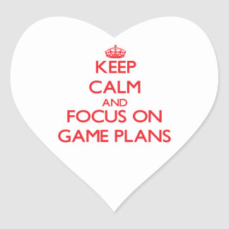 Keep Calm and focus on Game Plans Sticker