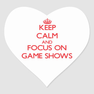 Keep Calm and focus on Game Shows Stickers