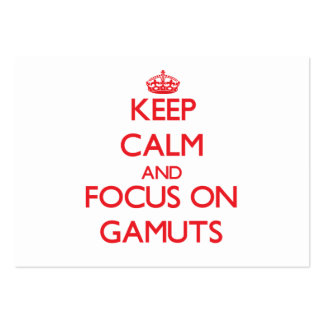 Keep Calm and focus on Gamuts Large Business Cards (Pack Of 100)