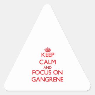 Keep Calm and focus on Gangrene Sticker