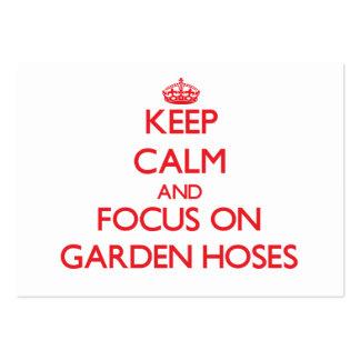 Keep Calm and focus on Garden Hoses Business Card Templates