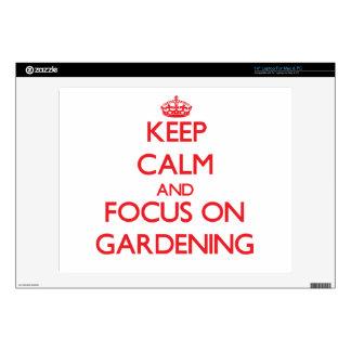 "Keep Calm and focus on Gardening 14"" Laptop Skins"