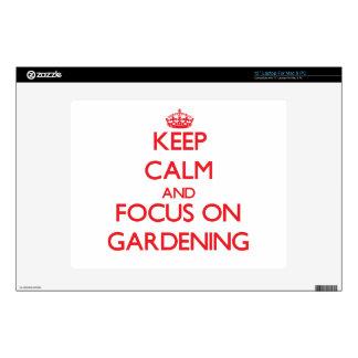 "Keep Calm and focus on Gardening 12"" Laptop Skin"