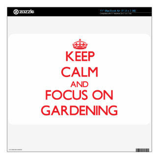 Keep Calm and focus on Gardening Decal For MacBook