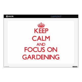 "Keep Calm and focus on Gardening 17"" Laptop Skins"