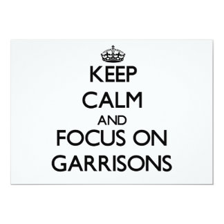 Keep Calm and focus on Garrisons Personalized Invitations