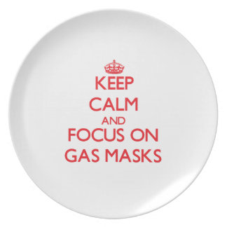 Keep Calm and focus on Gas Masks Party Plates