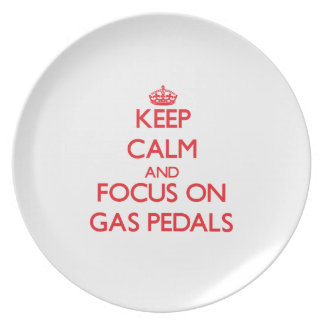 Keep Calm and focus on Gas Pedals Party Plates