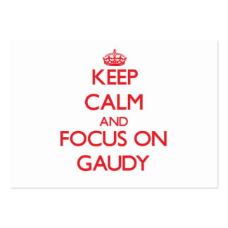 Keep Calm and focus on Gaudy Business Card Templates
