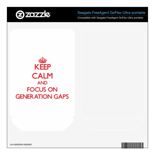 Keep Calm and focus on Generation Gaps FreeAgent GoFlex Decal