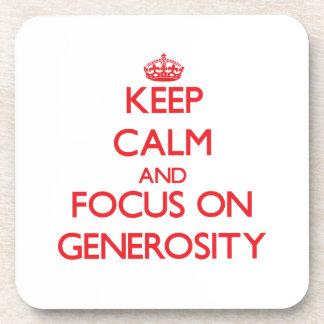 Keep Calm and focus on Generosity Beverage Coaster