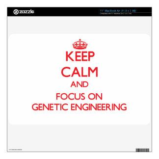 Keep Calm and focus on Genetic Engineering MacBook Air Decal