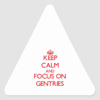 Keep Calm and focus on Gentries Triangle Sticker