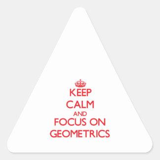 Keep Calm and focus on Geometrics Triangle Stickers