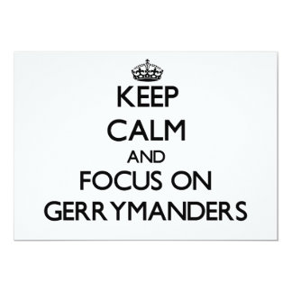 Keep Calm and focus on Gerrymanders Personalized Announcements
