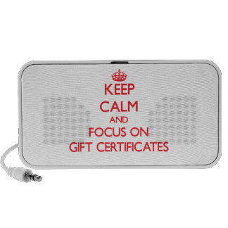 Keep Calm and focus on Gift Certificates Portable Speaker