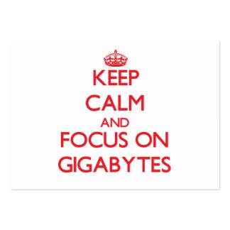 Keep Calm and focus on Gigabytes Business Card Templates