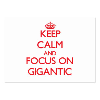 Keep Calm and focus on Gigantic Large Business Cards (Pack Of 100)