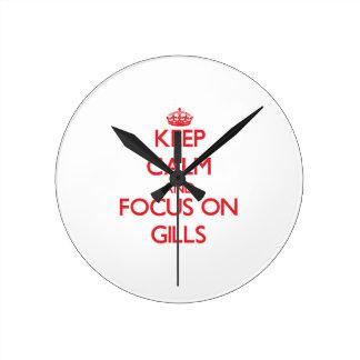 Keep Calm and focus on Gills Round Wallclocks