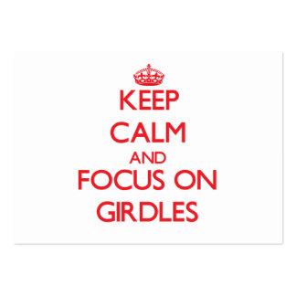Keep Calm and focus on Girdles Business Cards