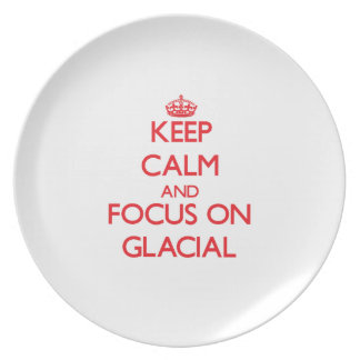 Keep Calm and focus on Glacial Party Plate