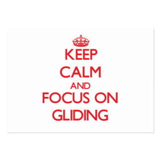 Keep Calm and focus on Gliding Business Card Templates