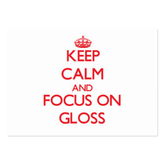 Keep Calm and focus on Gloss Large Business Cards (Pack Of 100)