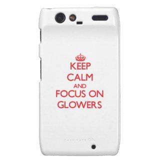 Keep Calm and focus on Glowers Motorola Droid RAZR Covers