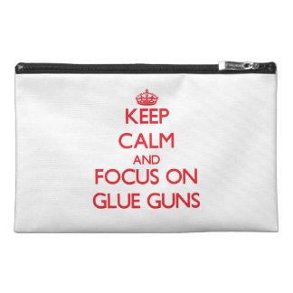 Keep Calm and focus on Glue Guns Travel Accessories Bag