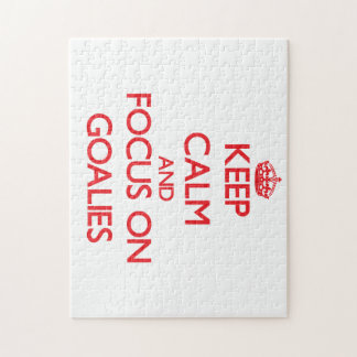 Keep Calm and focus on Goalies Puzzle