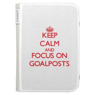 Keep Calm and focus on Goalposts Kindle Folio Cases