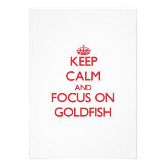 Keep Calm and focus on Goldfish Card