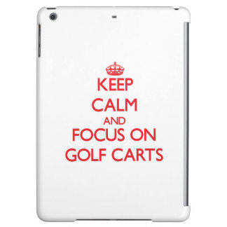 Keep Calm and focus on Golf Carts Cover For iPad Air