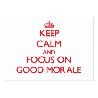 Keep Calm and focus on Good Morale Business Card Template