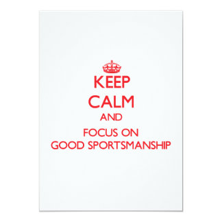 Keep Calm and focus on Good Sportsmanship Personalized Announcements