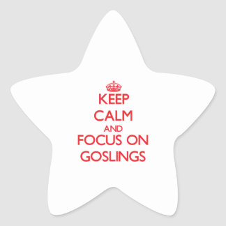Keep Calm and focus on Goslings Star Stickers