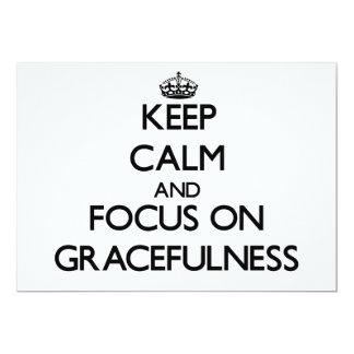 Keep Calm and focus on Gracefulness Custom Announcements