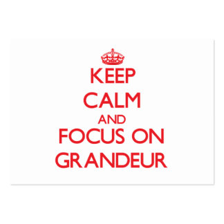Keep Calm and focus on Grandeur Business Card Template