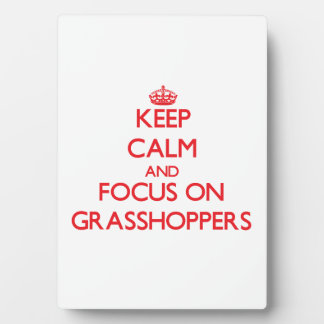 Keep calm and focus on Grasshoppers Photo Plaques